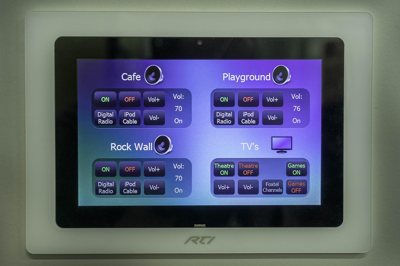 RTI touchscreen controller
